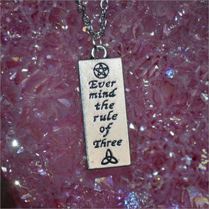 Jewelry - Ever mind the rule of Three Necklace